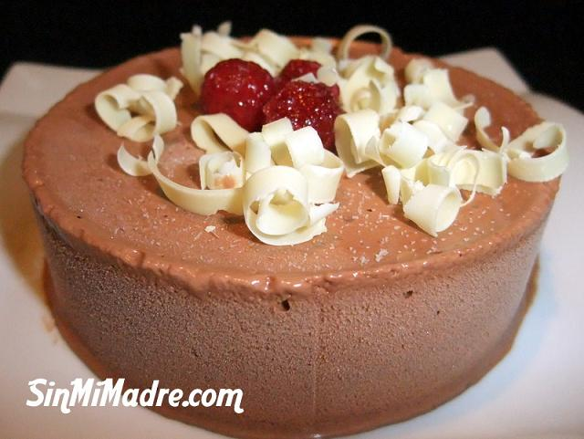 mousse de chocolate con microondas